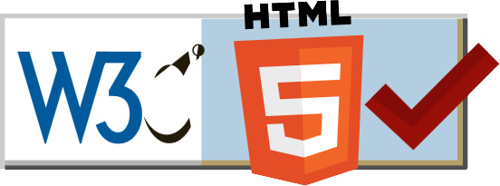 HTML5 validated by the W3C Validator